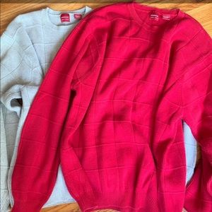 *Two Mens large Arrow sweaters